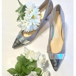 Ivanka Trump Gray and Silver Heels. Size 10